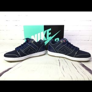 first rate 8351c 735e3 Nike Shoes | Sb Air Force 2 East West Denim Sneakers Sz 6 | Poshmark